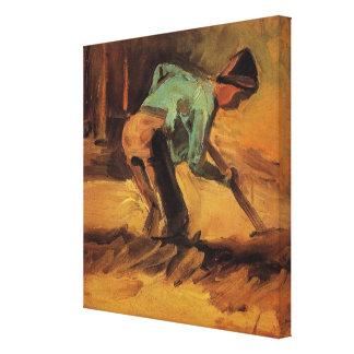 Toile Van Gogh ; Bâton d'homme ou pelle se penchant, art