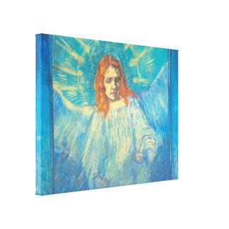 Toile Van Gogh ; Demi de figure d'un ange, art vintage