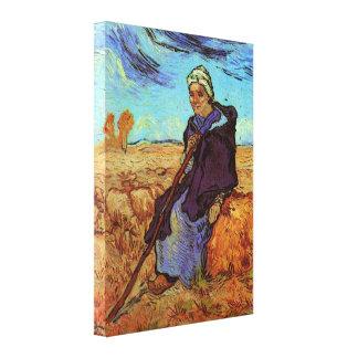 Toile Van Gogh ; La bergère, impressionisme vintage