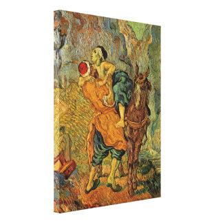 Toile Van Gogh le bon Samaritain, impressionisme vintage
