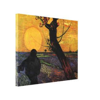 Toile Van Gogh ; Le semeur, agriculteur rural vintage