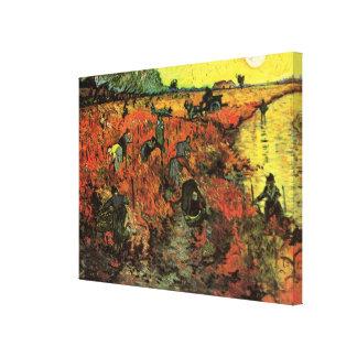 Toile Van Gogh, le vignoble rouge, impressionisme