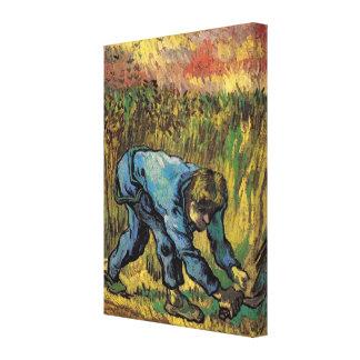 Toile Van Gogh ; Reaper avec la faucille, agriculteur