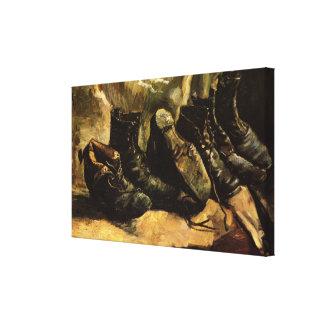 Toile Van Gogh ; Trois paires de chaussures, de cru