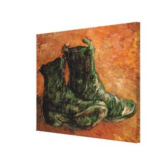 Toile Van Gogh, une paire de chaussures, de cru toujours