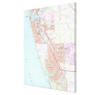 Toile Venise la Floride Map (1973)