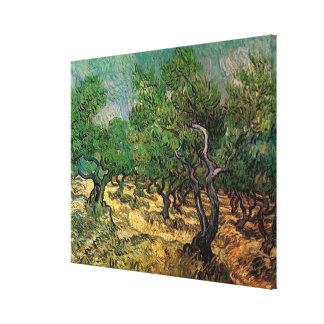 Toile Verger olive de Van Gogh, beaux-arts vintages de