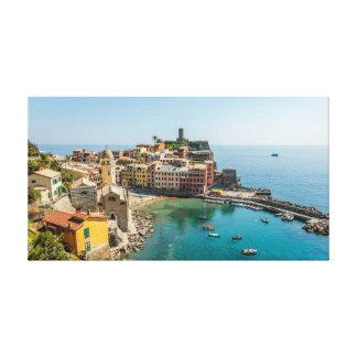 Toile Vernazza et son port magnifique