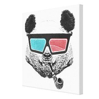 Toile Verres à trois dimensions de panda vintage