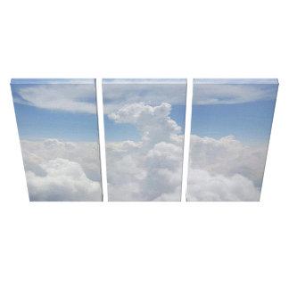 Toile Vers le haut de dans le ciel opacifie le tri art