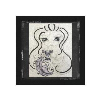 """Toile Vêtement manqué peu intellectuel """"Calligraphy"""