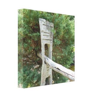 Toile Vieille barrière de moulin de blé à moudre -