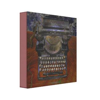 Toile Vieille machine à écrire sur le Tableau de Brown
