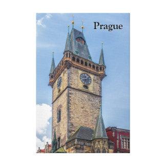 Toile Vieille République Tchèque d'hôtel de ville de