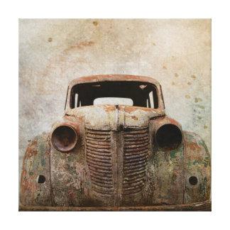 Toile Vieille voiture ancienne rouillée