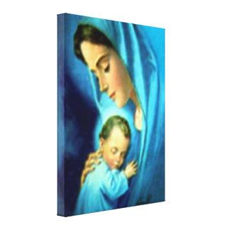 Toile Vierge Marie béni et enfant Jésus de nourrisson