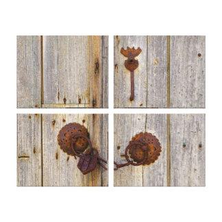 Toile Vieux cadenas vintage rouillé de fer sur un en
