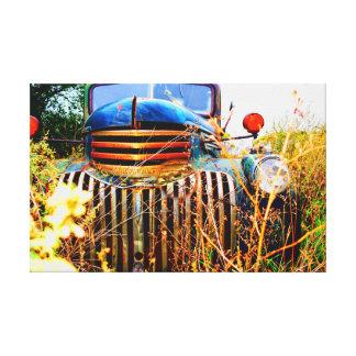 Toile Vieux camion de ferme