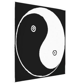 Toile Vieux Chinois Yin et symbole de Yang