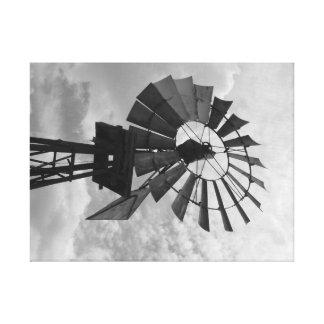 Toile Vieux moulin de vent BW