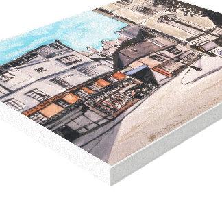Toile Vieux Paris, - aquarelle, copie enveloppée de