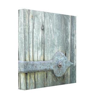 Toile Vieux verrou de porte de moulin de blé à moudre
