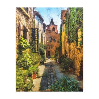 Toile Vieux Village de Grimaud, France