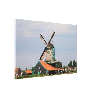 Toile Village néerlandais de moulin à vent, Hollande 3