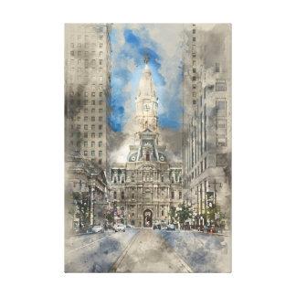 Toile Ville hôtel de Philadelphie sur la large rue