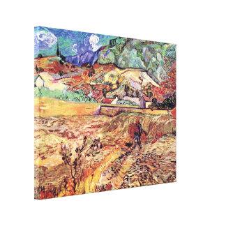 Toile Vincent van Gogh - beaux-arts inclus de champ de