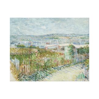 Toile Vincent van Gogh - Montmartre : Derrière le Moulin
