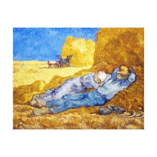 Toile Vincent van Gogh - repos de midi de travail -