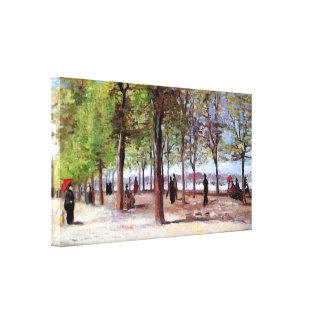 Toile Vincent van Gogh - terrasse au jardin du