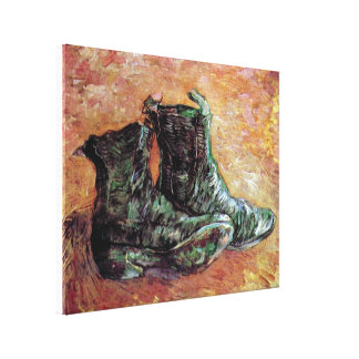 Toile Vincent van Gogh - une paire de chaussures