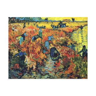 Toile Vincent van Gogh - vignoble rouge à la peinture