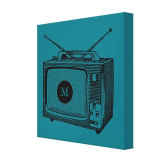 Toile vintage de monogramme de Televisor Toiles