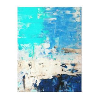 """Toile """"Vis-à-vis"""" de l'art abstrait de turquoise"""