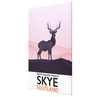 Toile Visitez la belle île de Skye