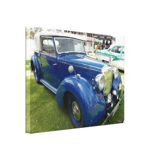 Toile Voiture bleue vintage