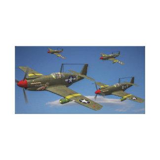 Toile Vol des bombardiers de piqué d'A-36 Apache