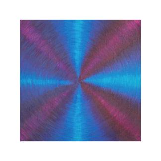 Toile Vortex croisé bleu et pourpre