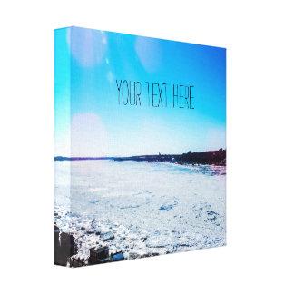 Toile Votre des textes grande rivière congelée ici |