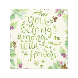 Toile vous appartenez parmi la copie de fées de fleurs