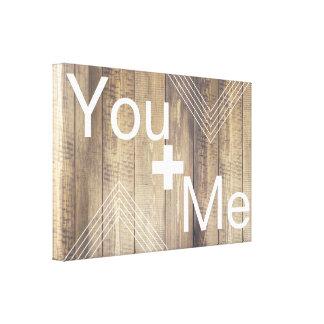 Toile Vous + Je planches et flèches en bois légères