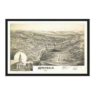 Toile Vue aérienne d'Archbald, Pennsylvanie (1892)