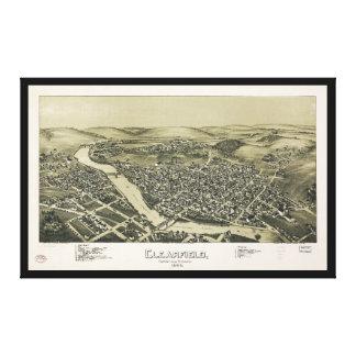 Toile Vue aérienne de Clearfield, Pennsylvanie (1895)