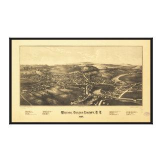Toile Vue aérienne de Comté d'Orange New York 1887 de