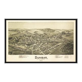Toile Vue aérienne de Dunbar, Pennsylvanie (1900)