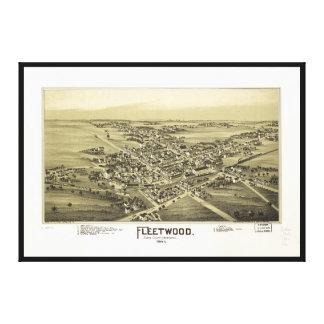 Toile Vue aérienne de Fleetwood, Pennsylvanie (1893)
