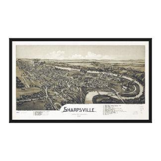 Toile Vue aérienne de Sharpsville, Pennsylvanie (1901)